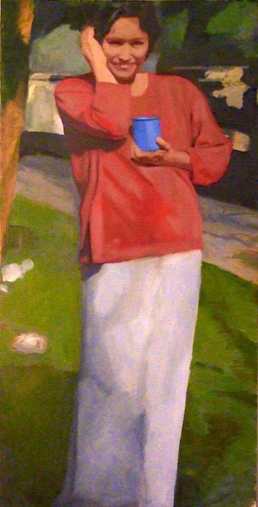 """Renee"" original fine art by Fred Medley"