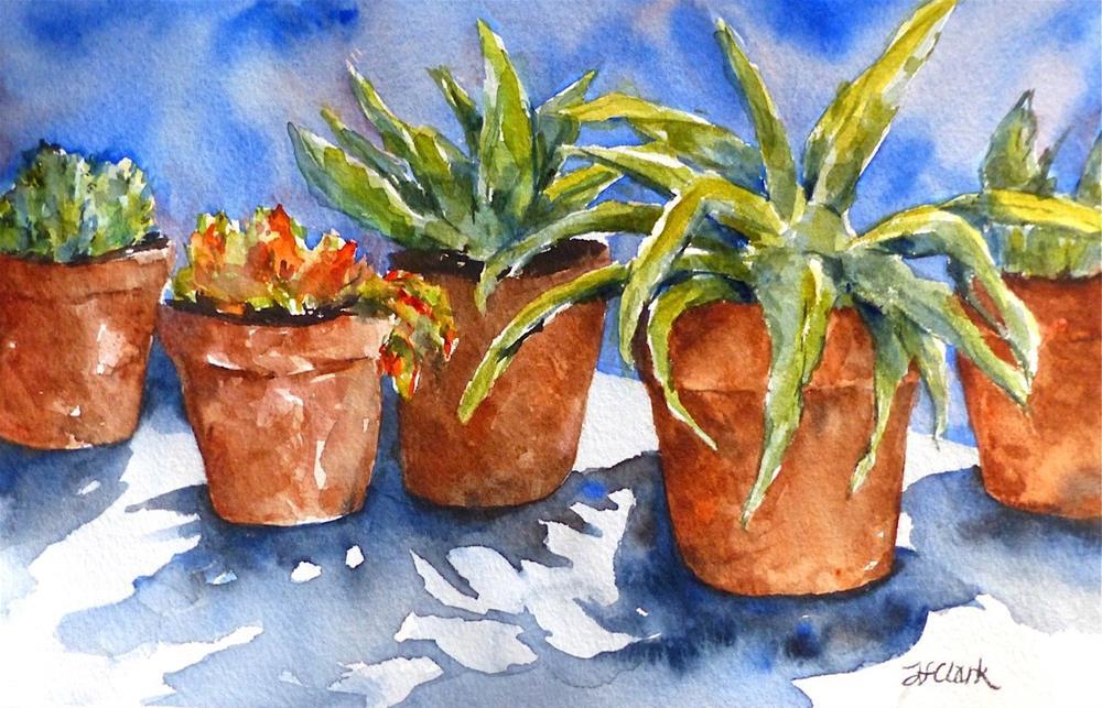 """Cactus Flower"" original fine art by Judith Freeman Clark"