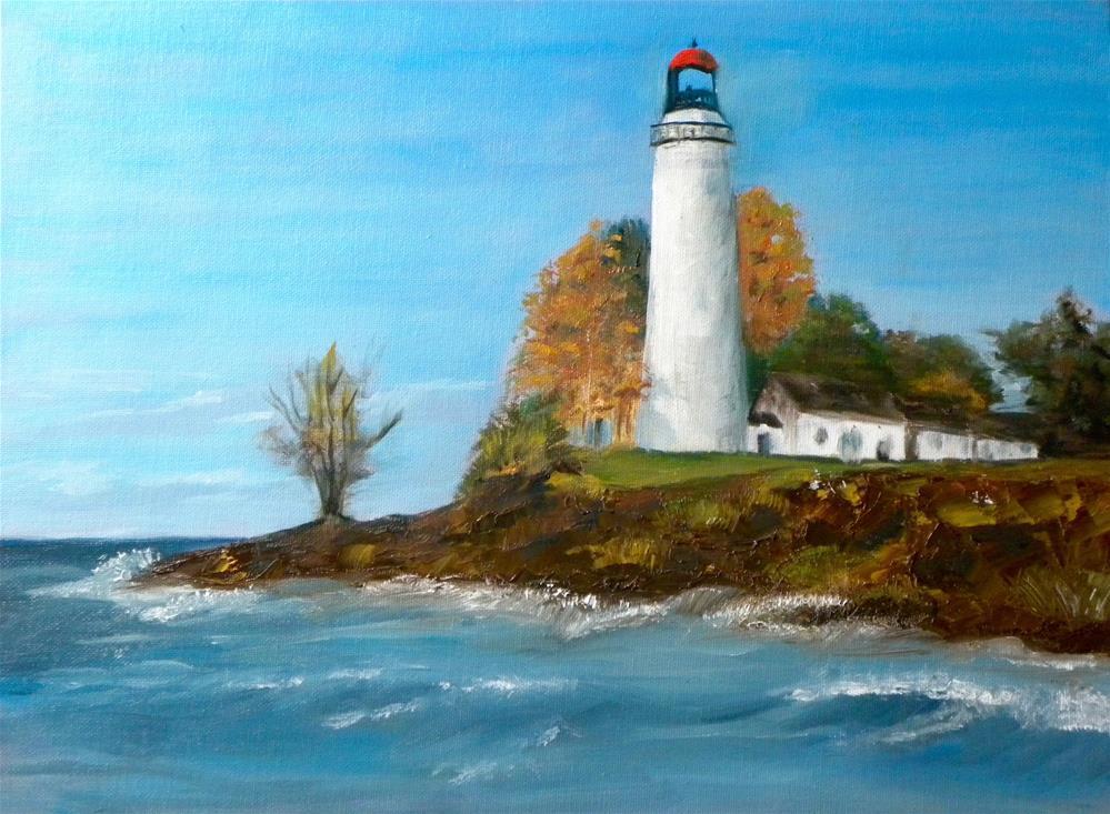 """The Lighthouse"" original fine art by cheryl buhrman"