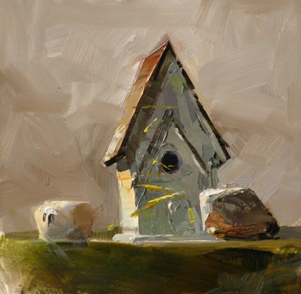 """Birdie's Home"" original fine art by Qiang Huang"