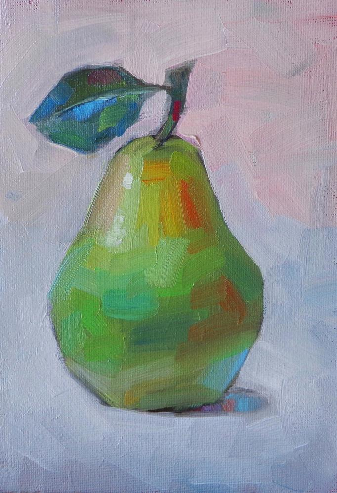 """Just one pear"" original fine art by Maria Z."