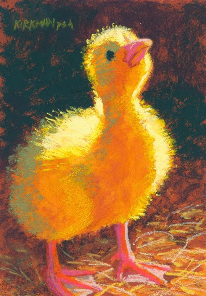 """Duckling in the Light"" original fine art by Rita Kirkman"