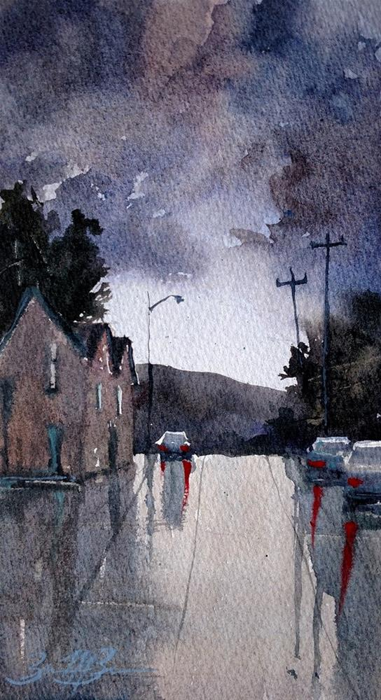 """Summer Storm"" original fine art by Brienne M Brown"