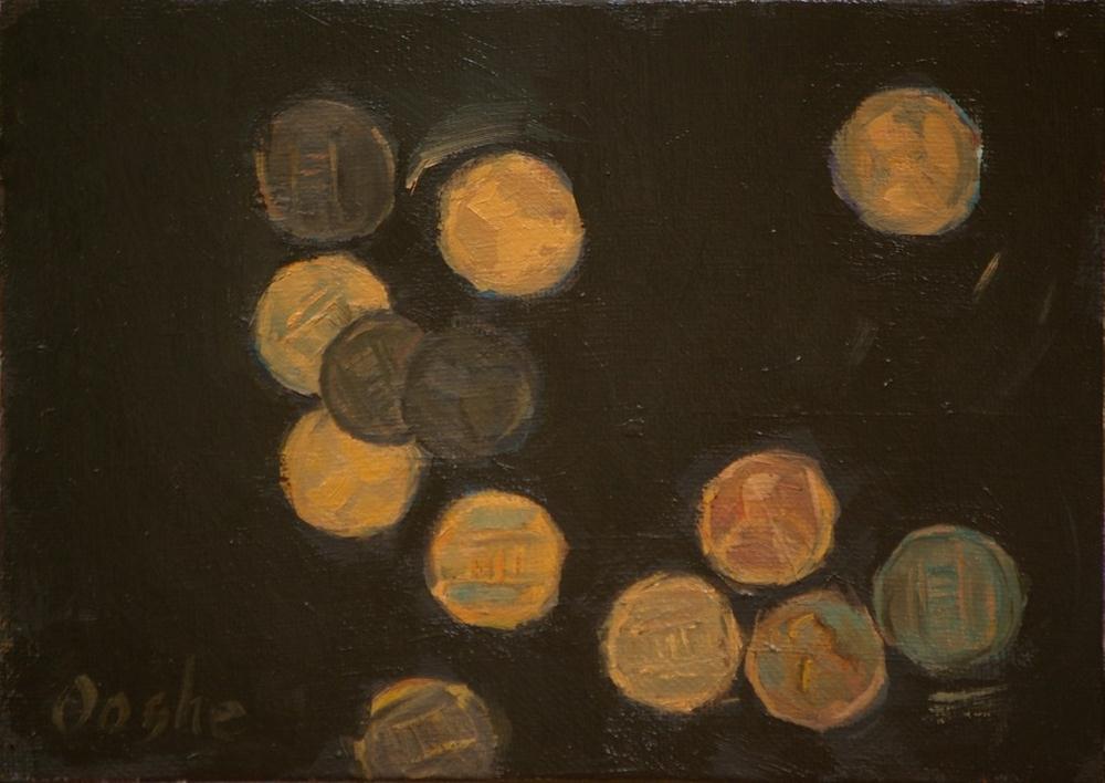 """Pennies"" original fine art by Angela Ooghe"