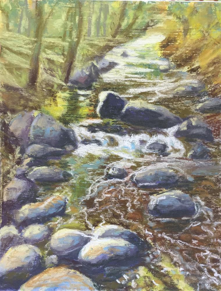 """Creek 2"" original fine art by Natasha Ramras"