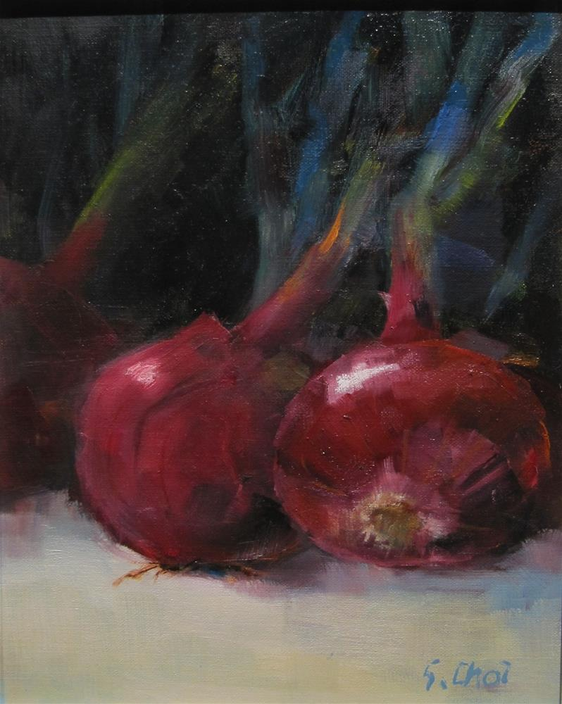 """Red Onions"" original fine art by Sunkyung Choi"