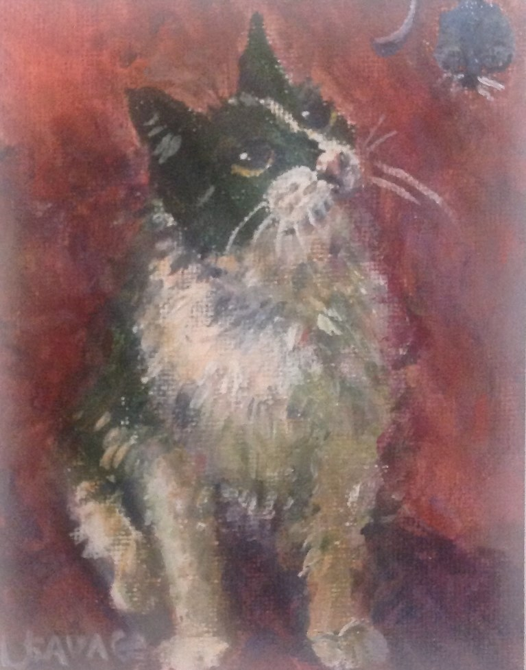 """To Catch A Mouse"" original fine art by Judy Usavage"
