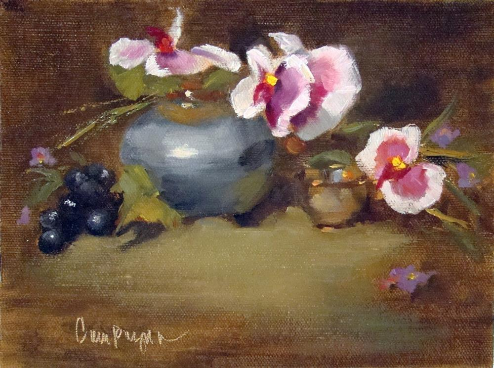 """""""Lazy Orchid Blooms - Oil Painting"""" original fine art by Roseanne Campagna"""