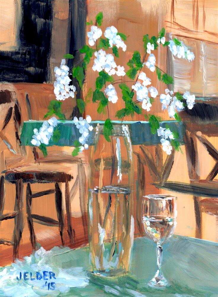 """Snowberries and Wine"" original fine art by Judith Elder"