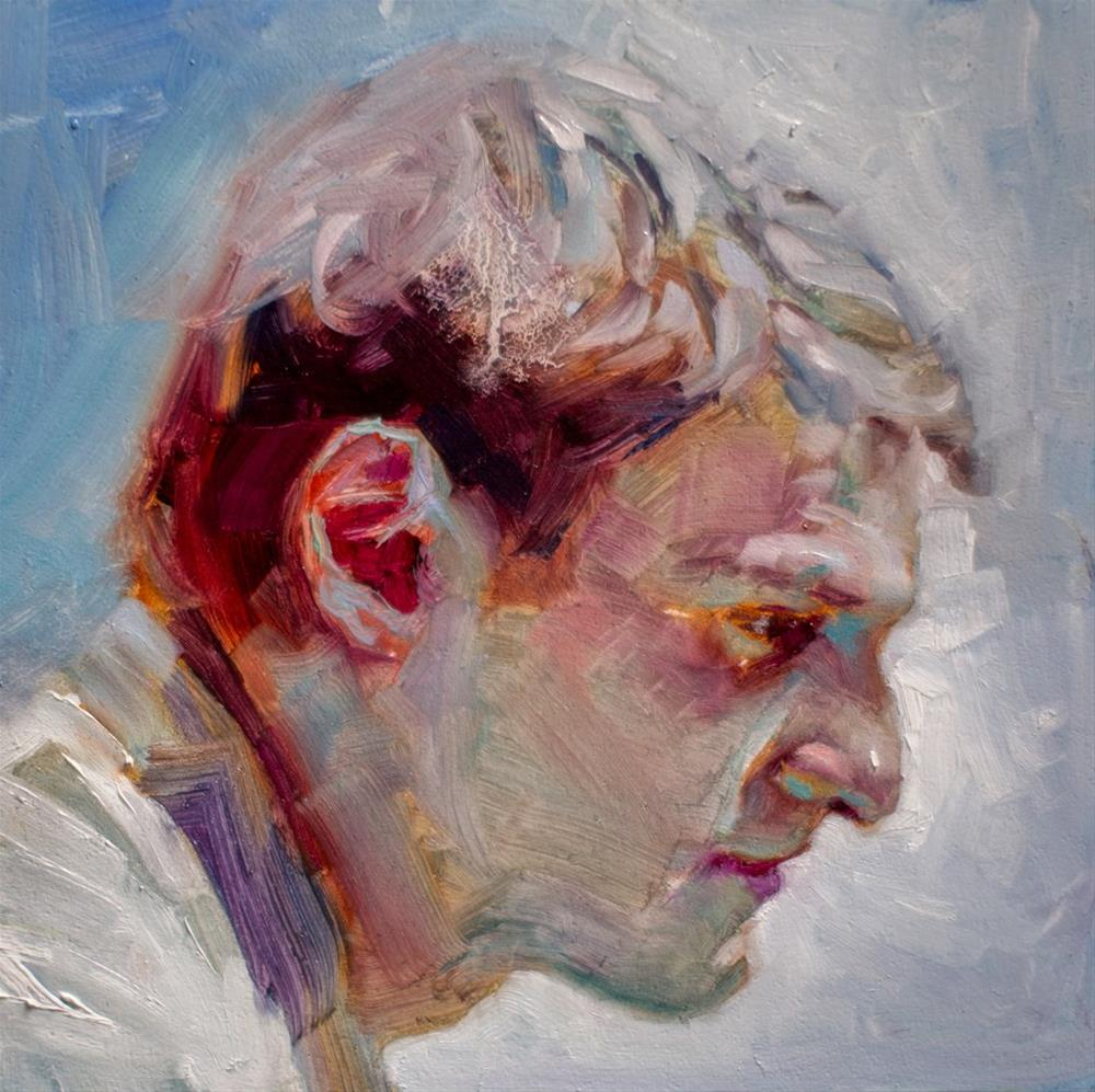 """In Profile No. 3"" original fine art by Dimitriy Gritsenko"