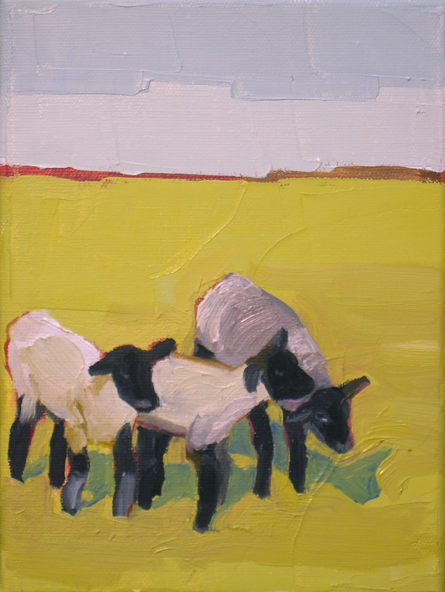 """Three Little Lambs"" original fine art by Donna Walker"