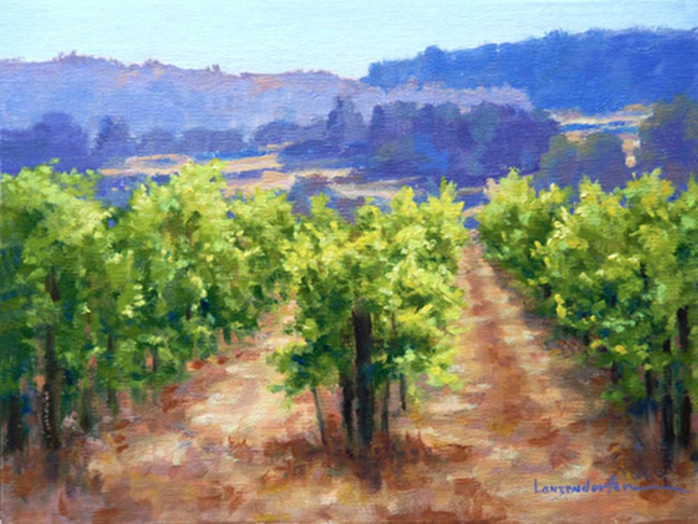 """FOOTHILL VINEYARD"" original fine art by Dj Lanzendorfer"