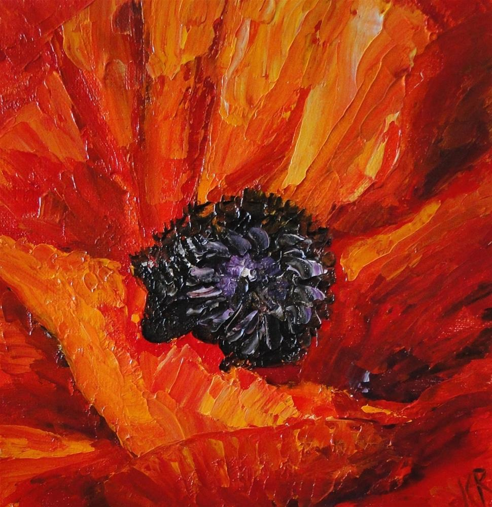 """Poppy"" original fine art by Karen Robinson"