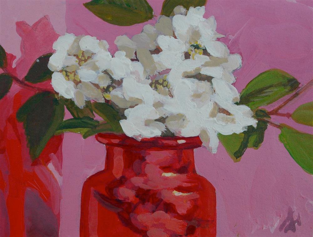 """Dogwood Blossoms"" original fine art by Mark Allison"