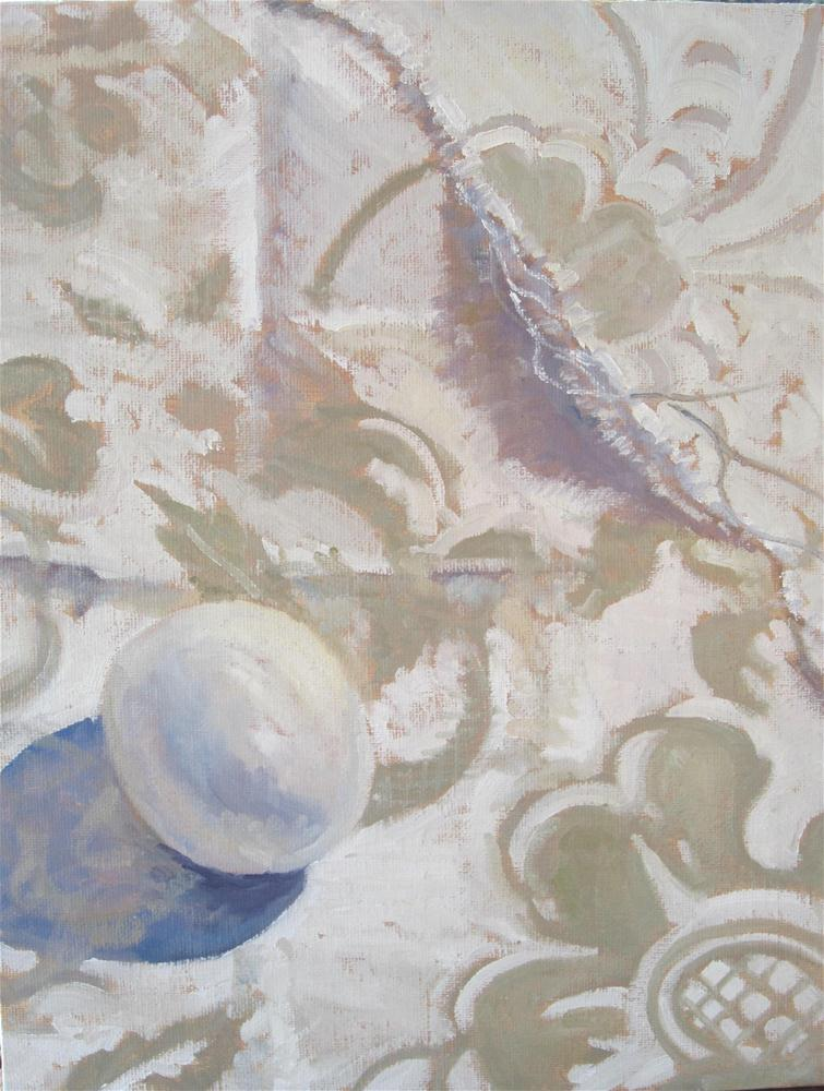 """the Egg and the Linen"" original fine art by Leigh Alexandra Sparks"