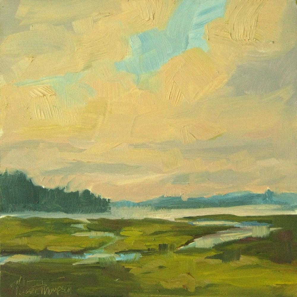 """Tidal Stream - Puget Sound Landscape painting"" original fine art by Melanie Thompson"