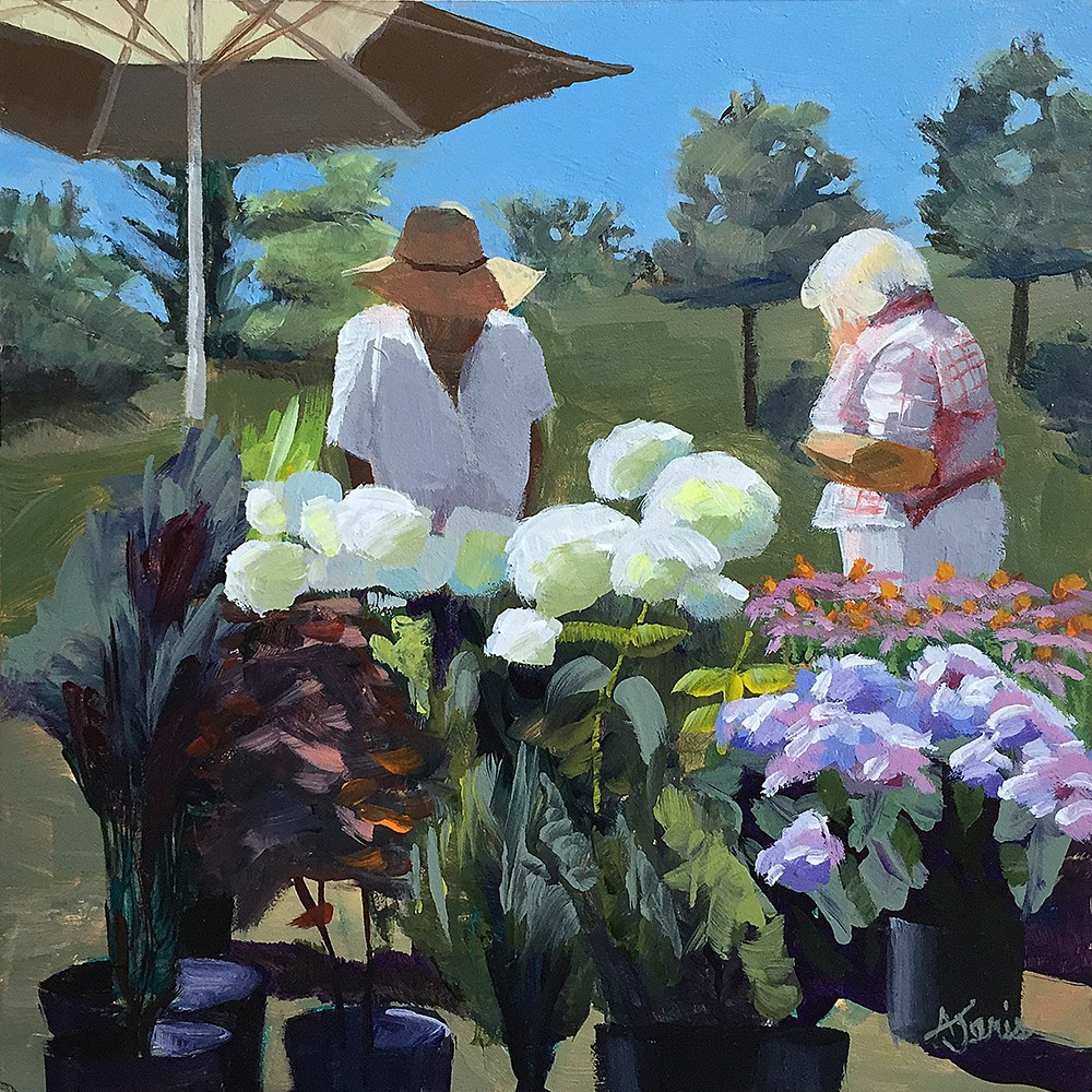 """Farmers' Market–Flowers"" original fine art by Andrea Jeris"