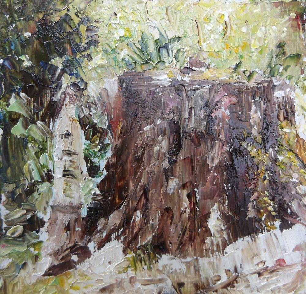 """Tree Stump"" original fine art by Judy Usavage"