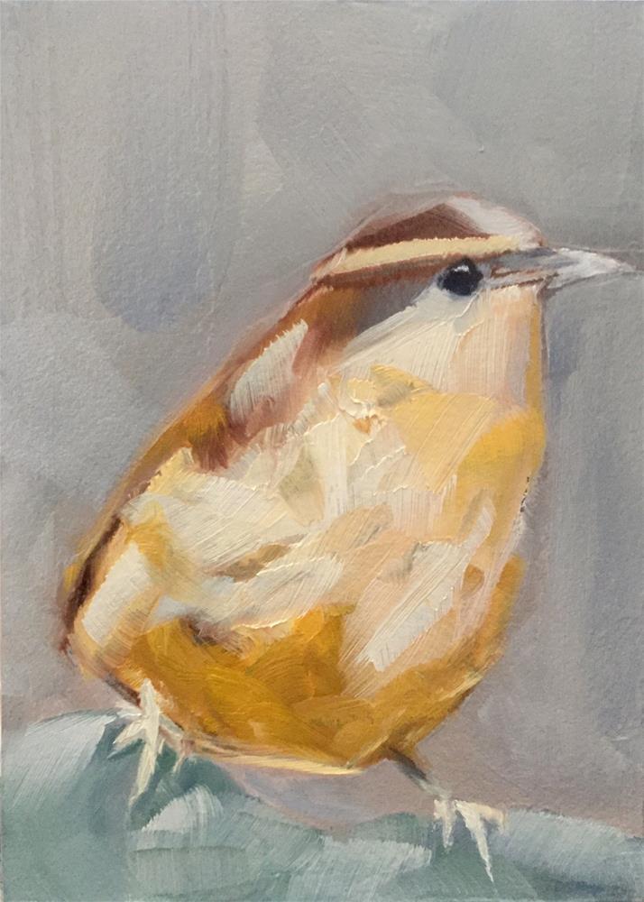 """Carolina Wren"" original fine art by Gary Bruton"
