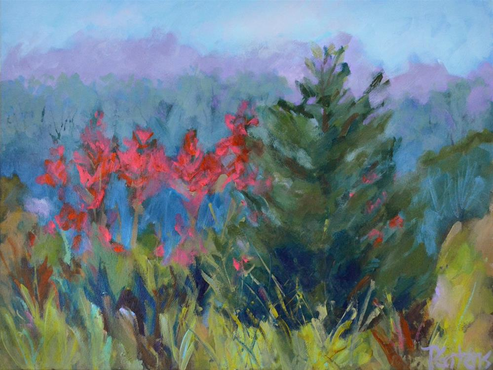 """Red Mountain"" original fine art by Pamela Gatens"