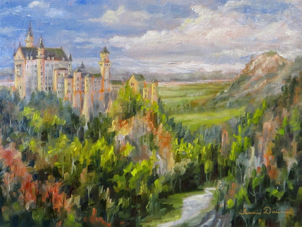 """Neuschwanstein Castle"" original fine art by Tammie Dickerson"