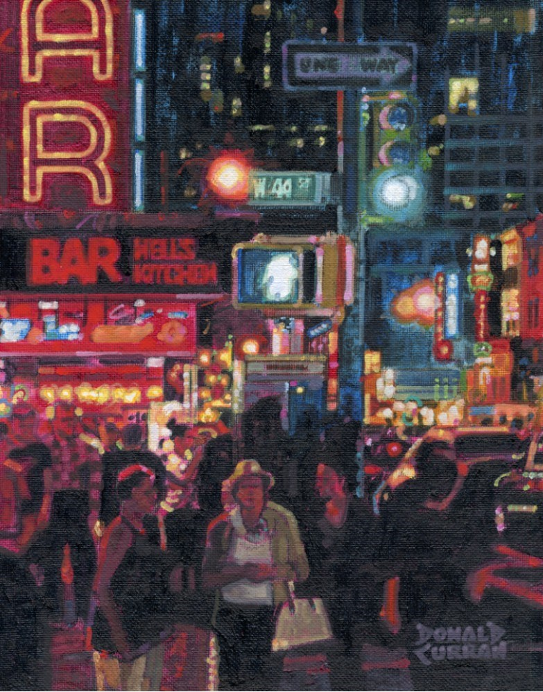"""New York City"" original fine art by Donald Curran"