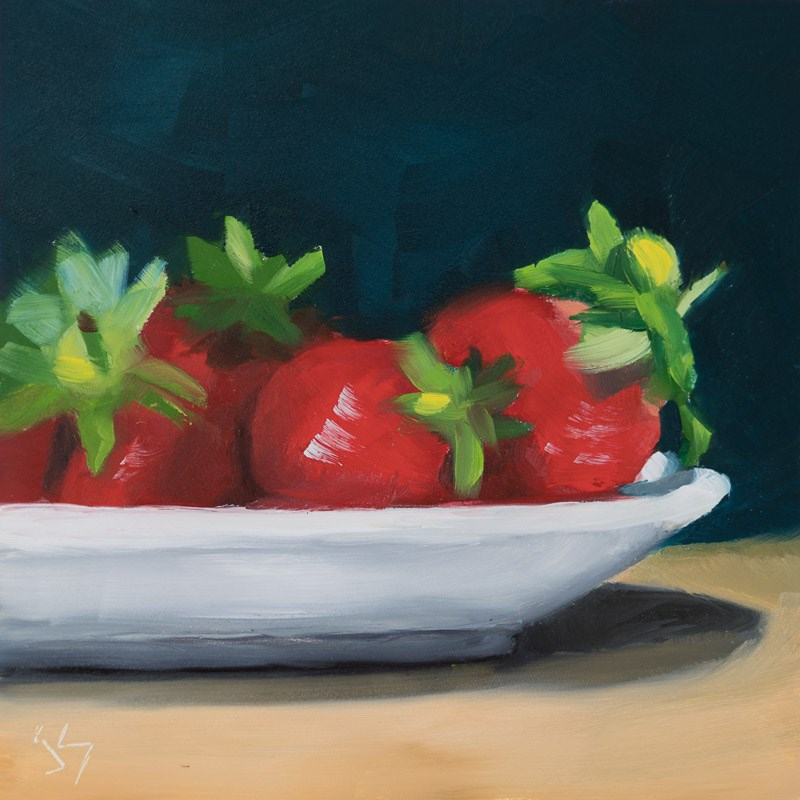 """Strawberry Surprise"" original fine art by Johnna Schelling"