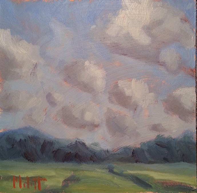 """Summer Landscape August Zooming By Like a Cloud Original Oil Painting"" original fine art by Heidi Malott"