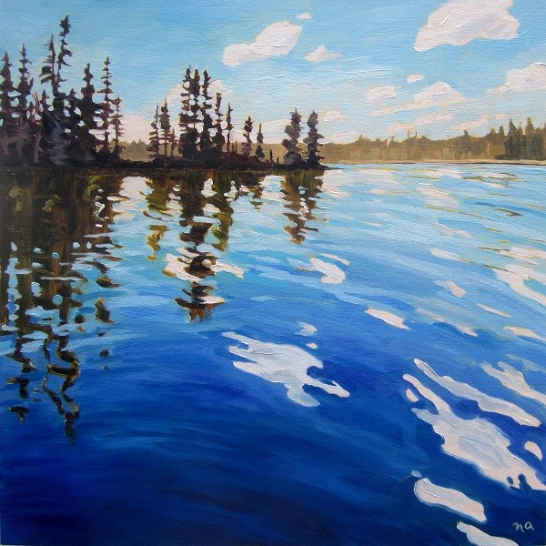 """Revisiting Lynx Lake"" original fine art by Nicki Ault"