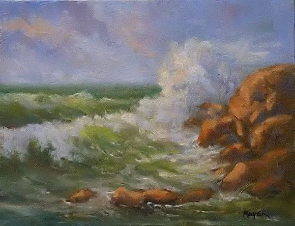 """Oregon Coastline"" original fine art by Jim Moyer"