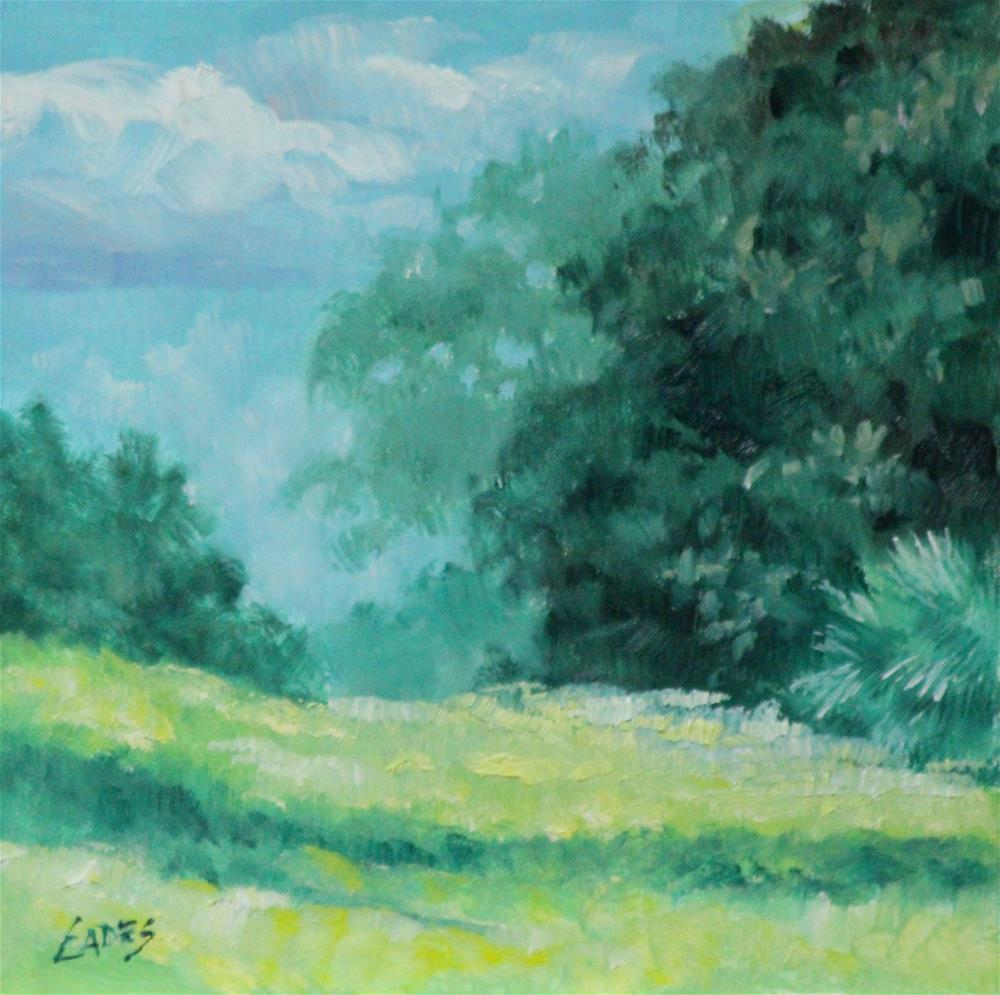 """Rolling Hill"" original fine art by Linda Eades Blackburn"