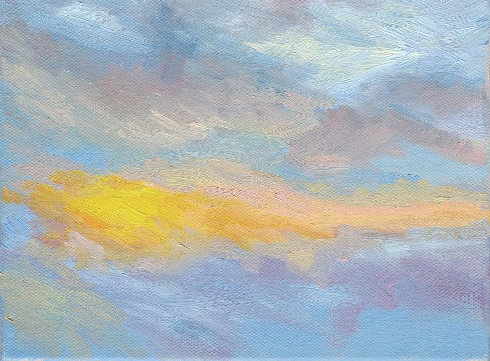 """WINTER SUNRISE IV"" original fine art by Karen E Lewis"