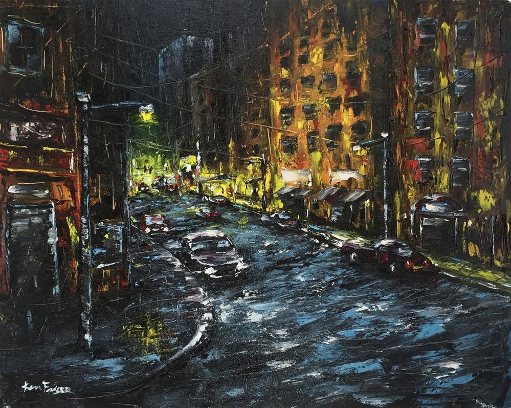 """""""Just Around The Corner"""" original fine art by Ken Fraser"""
