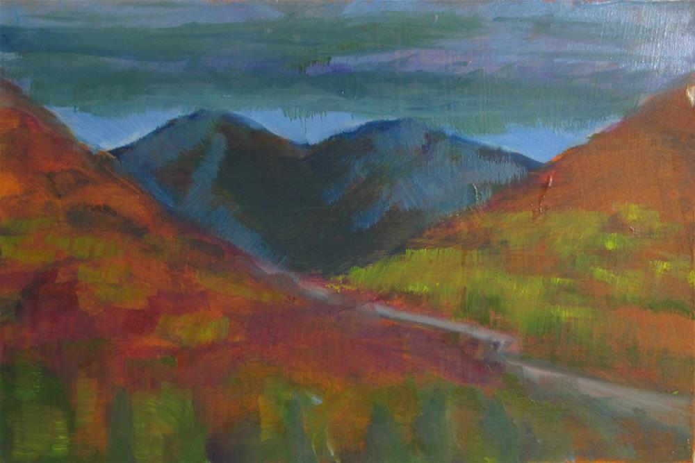 """Remembered Landscape #4 Going Over the Pass"" original fine art by Christine Holzschuh"