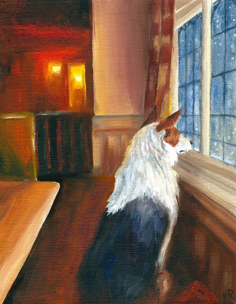 """Watching III"" original fine art by Karen Robinson"