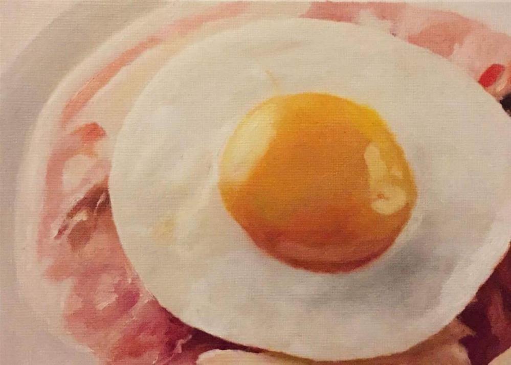 """""""Ham & Egg"""" original fine art by John Cameron"""