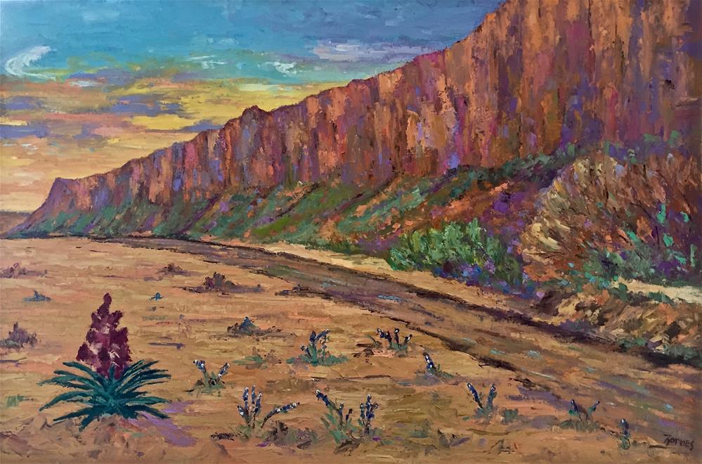 """Canyon Wall, Big Bend National Park"" original fine art by Liz Zornes"