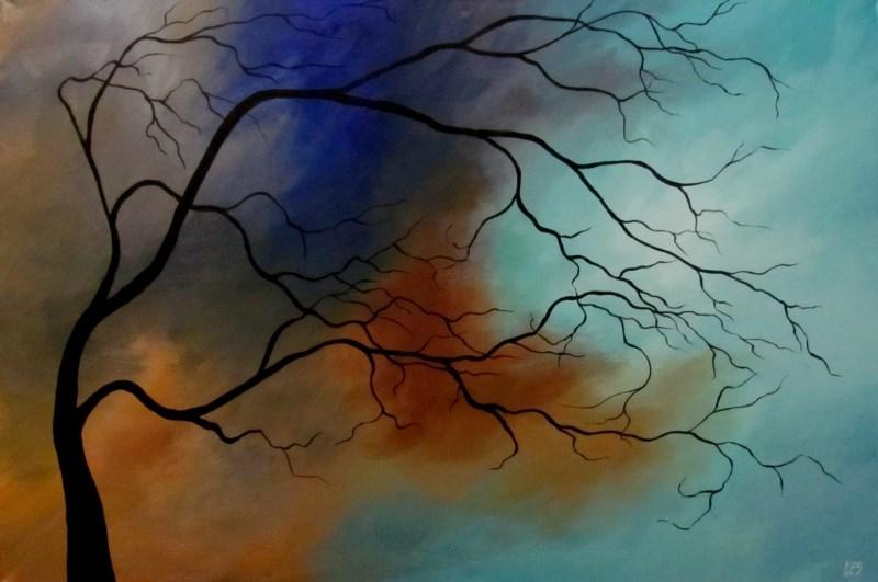 """""""Snowstorm"""" original fine art by ~ces~ Christine E. S. Code"""