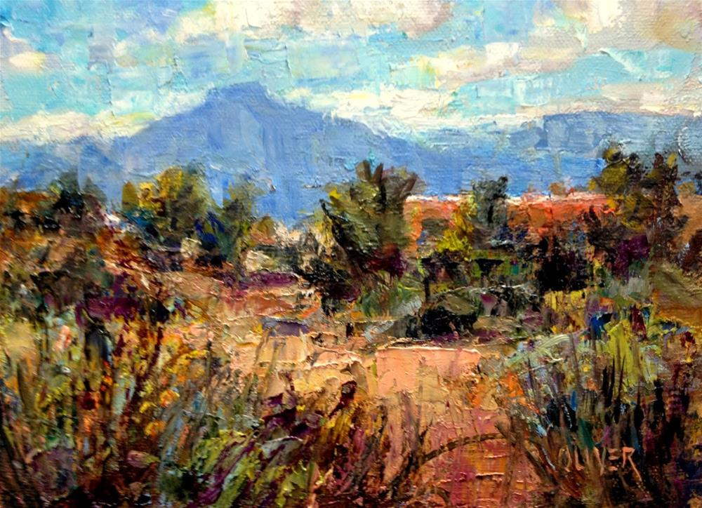 """Georgia' O'Keeffe's Casa at Ghost Ranch, NM"" original fine art by Julie Ford Oliver"
