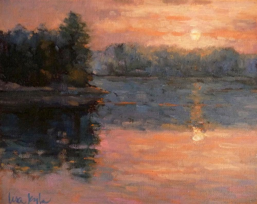 """Sunset on the Cove"" original fine art by Lisa Kyle"