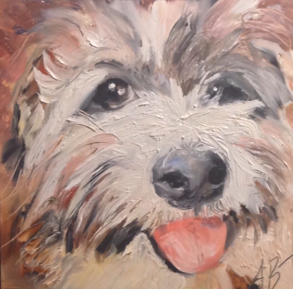 """Dog Selfie"" original fine art by Annette Balesteri"