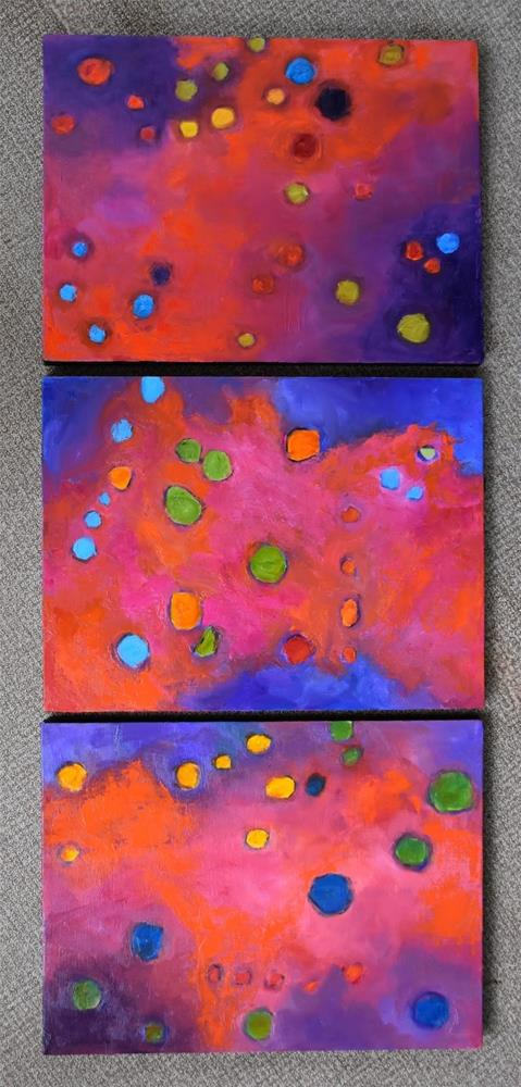 """Abstracts Changing Positions…What If 1, 2, 3"" original fine art by Ceci Lam"