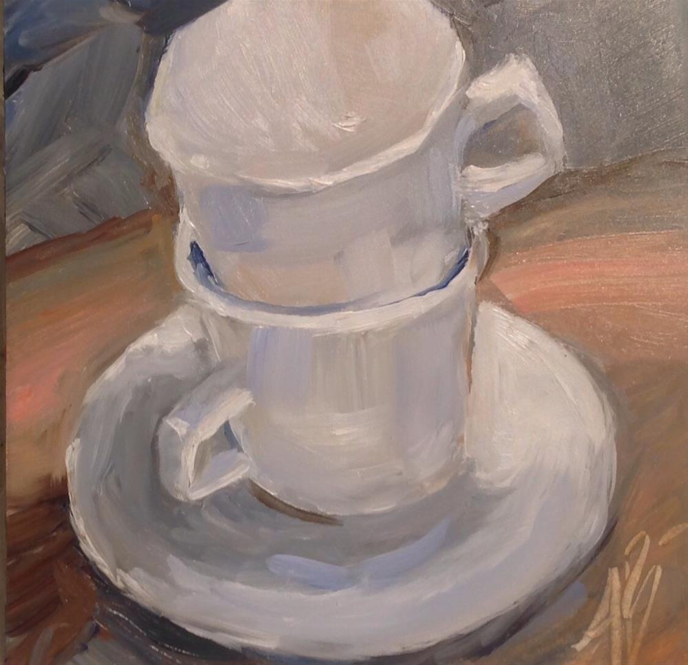 """Just White Cups"" original fine art by Annette Balesteri"