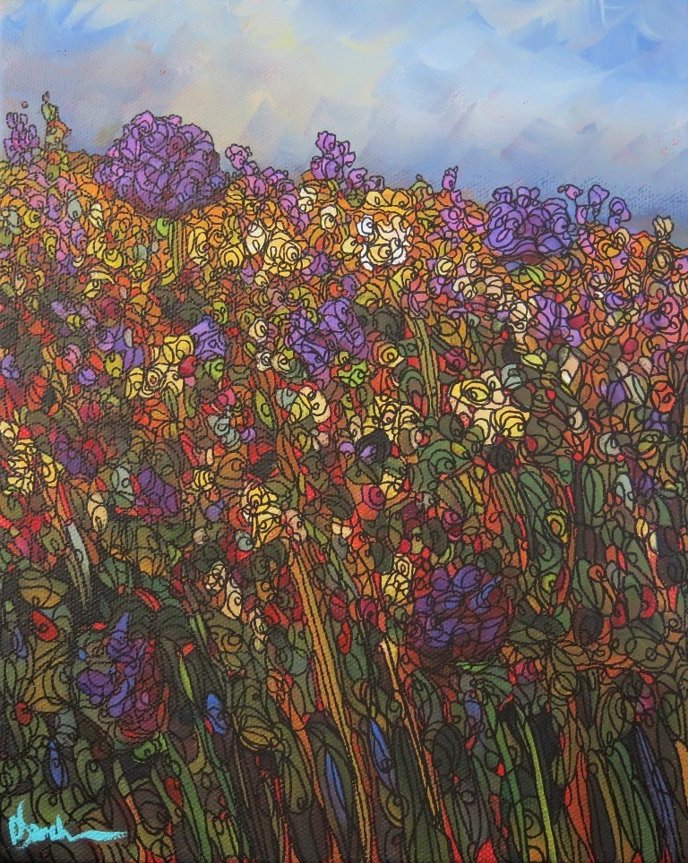"""MORADA MEADOW #146"" original fine art by Dee Sanchez"