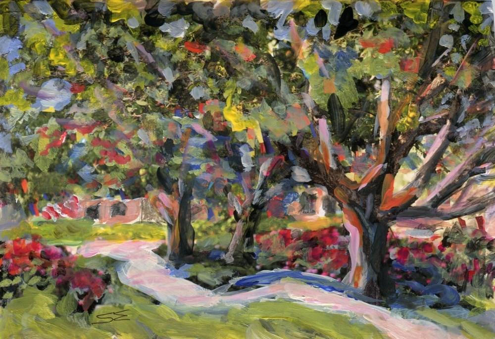 """""""Primrose Path"""" original fine art by Stanley Epperson"""