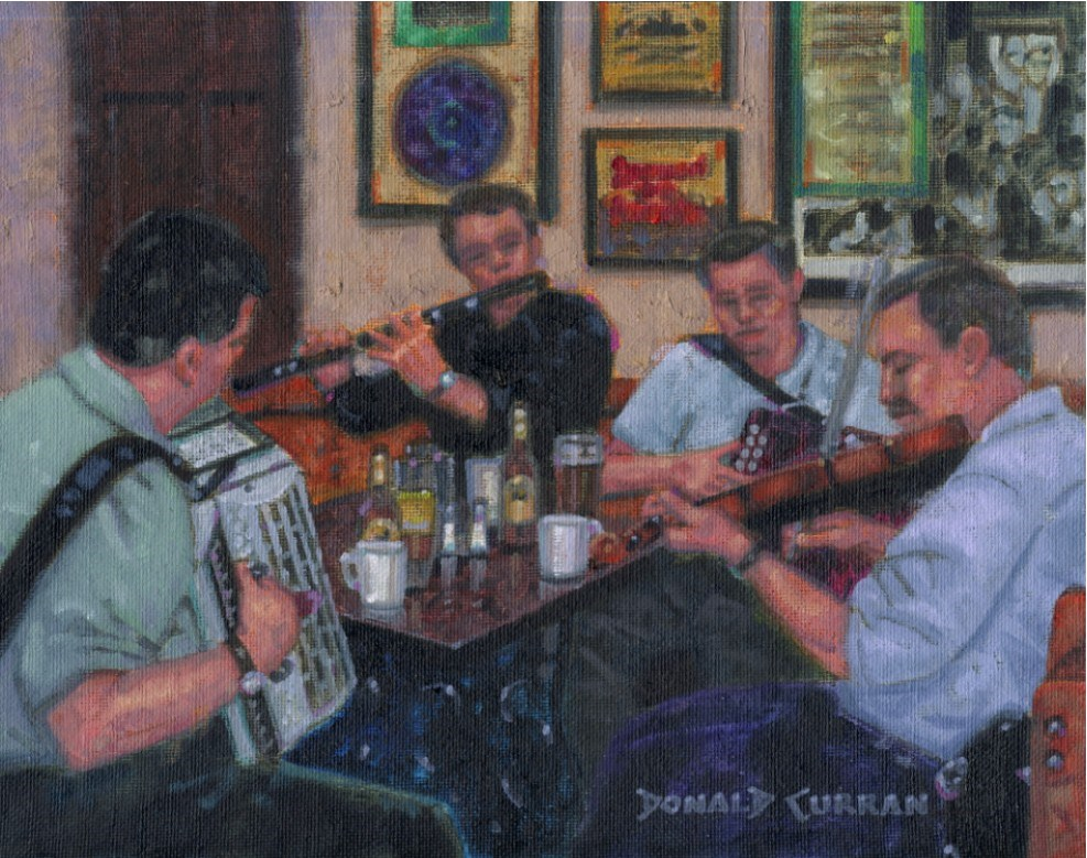 """Doolin Pub Music"" original fine art by Donald Curran"