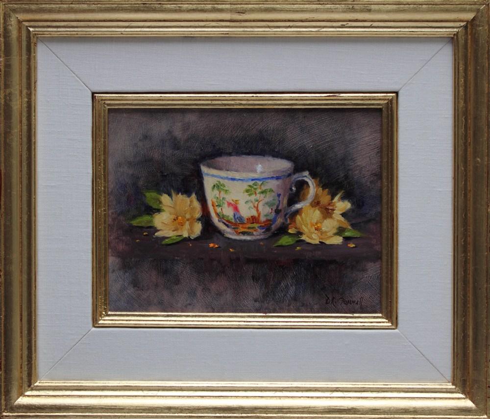 """""""Demitasse"""" original fine art by Donna C Farrell"""
