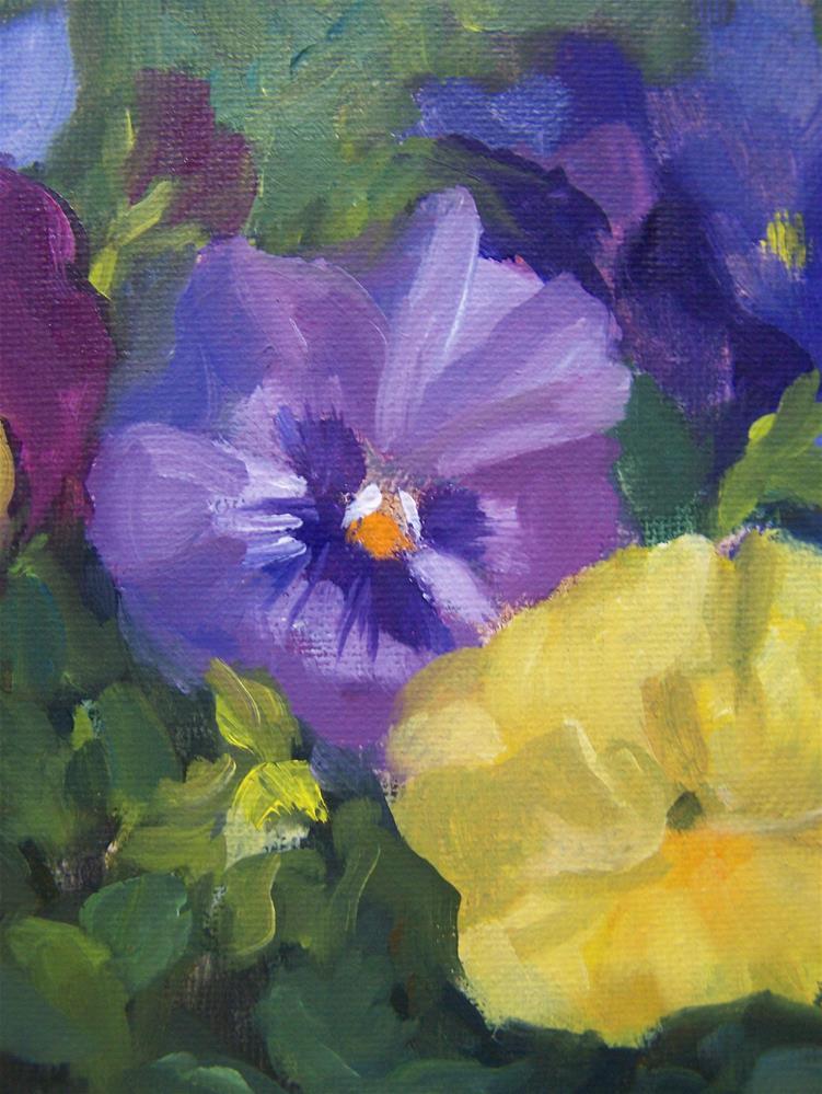 """""""Pansies #2"""" original fine art by Joan Reive"""