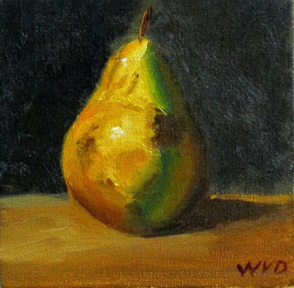 """D'Anjou Pear"" original fine art by Will Dargie"