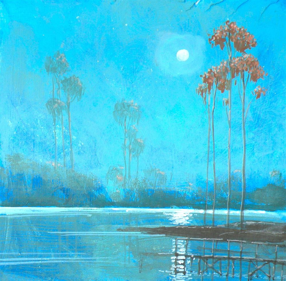 """Moonriver"" original fine art by Toni Goffe"